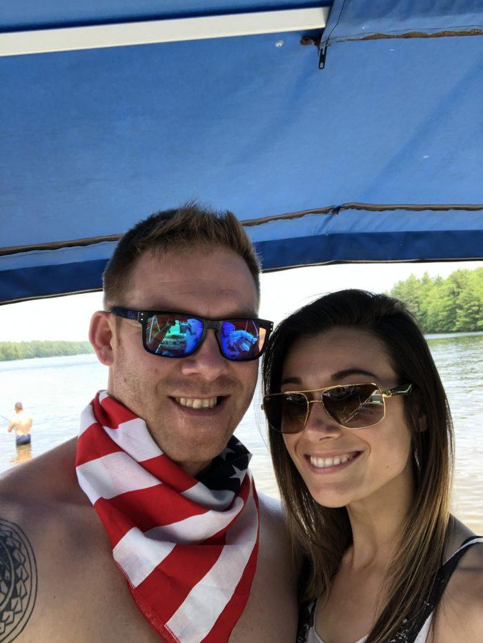 Wedding Proposal Ideas in Cobbosseecontee Lake in Litchfield, Maine