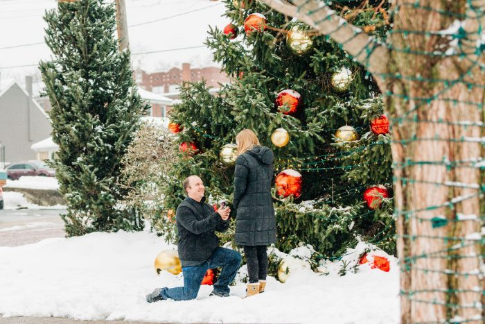 Wedding Proposal Ideas in Main Street St. Charles
