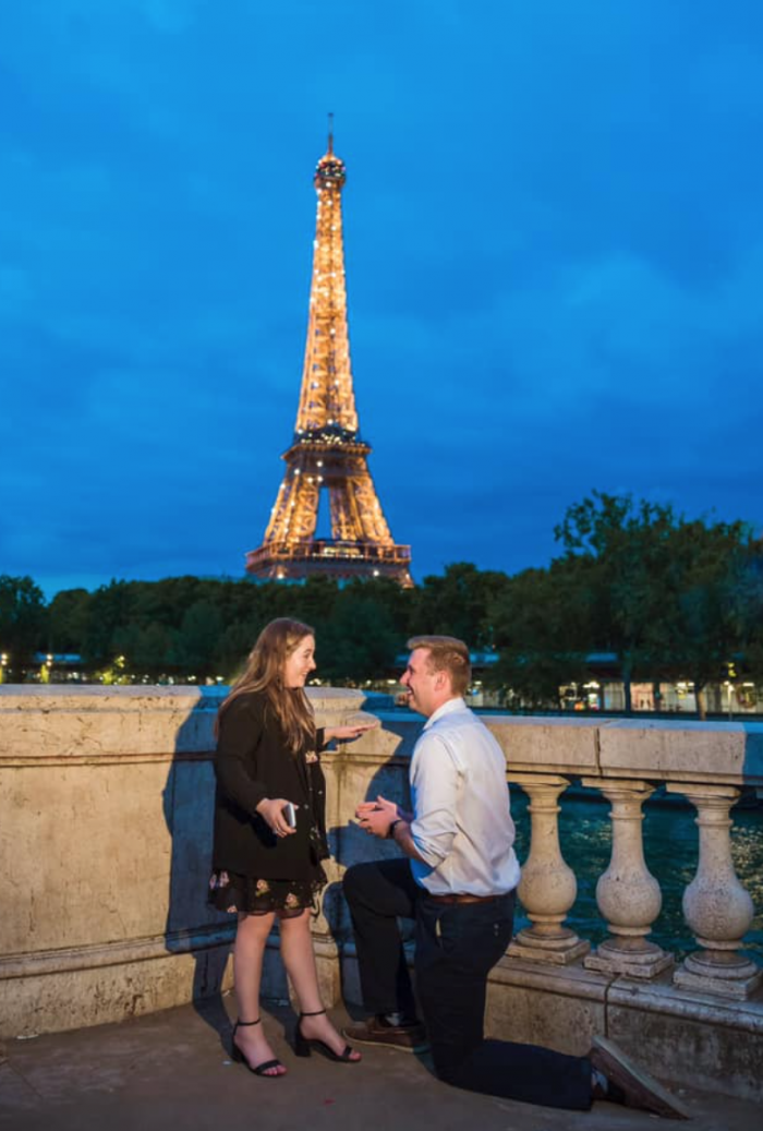 Rebecca's Proposal in The Eiffel Tower, Paris France