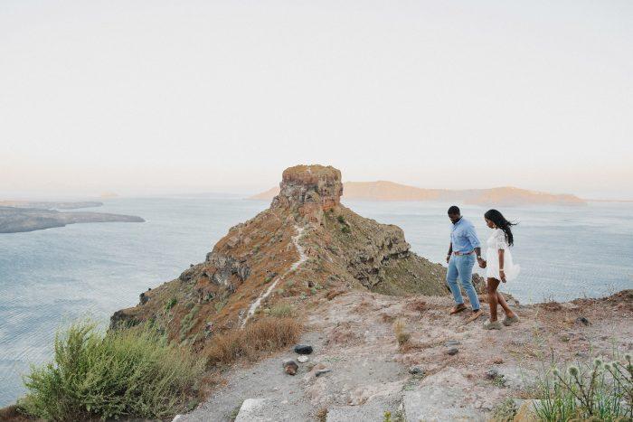 Kaleya's Proposal in Santorini, Greece