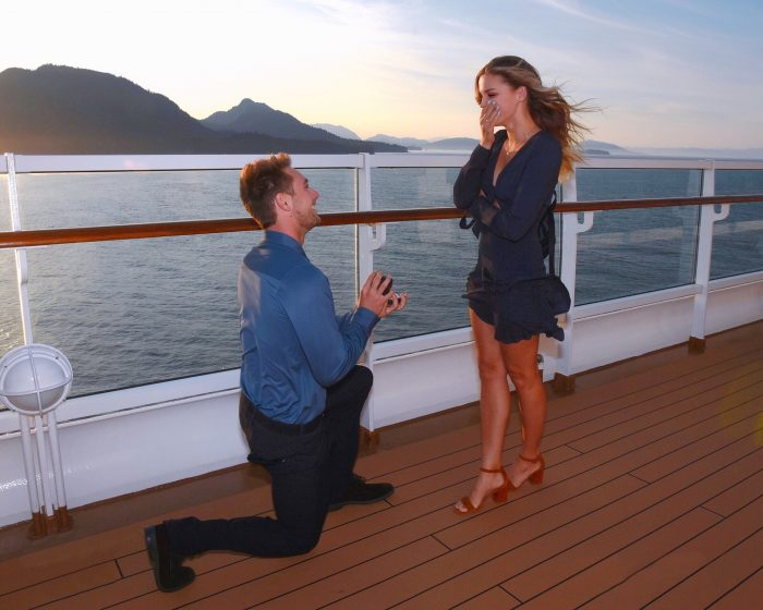 Engagement Proposal Ideas in On a cruise ship to Alaska