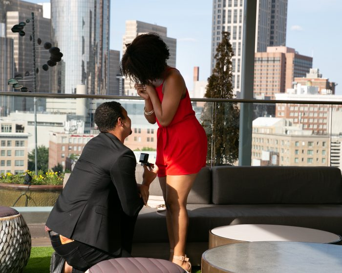 Engagement Proposal Ideas in SkyHouse Lounge, Atlanta