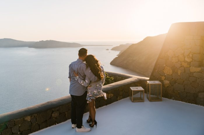 Wedding Proposal Ideas in Aenaon Villas, Santorini, Greece