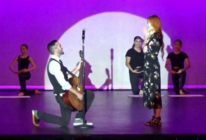 Alexis's Proposal in On stage at my dance studios spring dance recital
