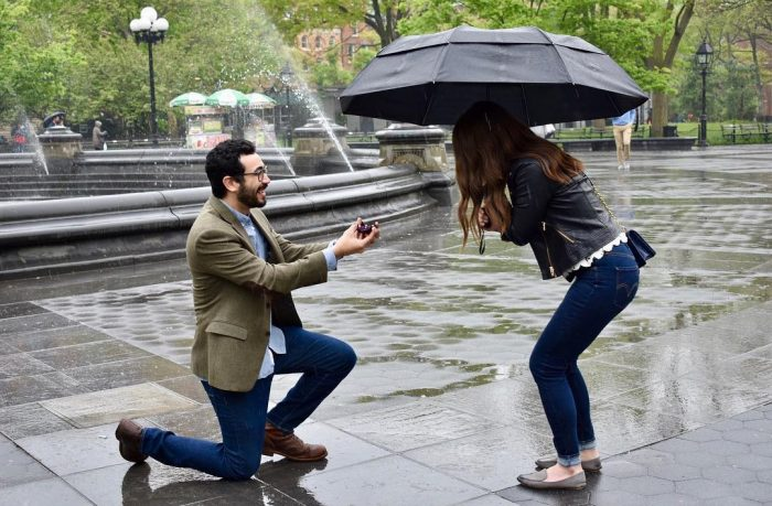 Marriage Proposal Ideas in Washington Square Park