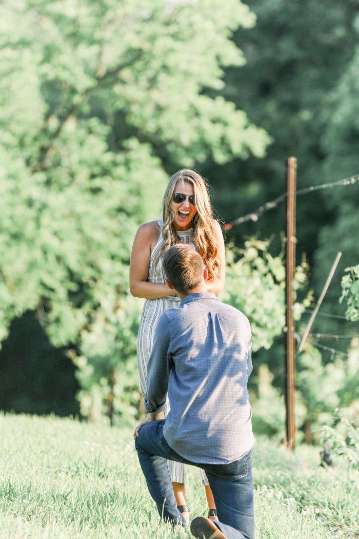 Bailee's Proposal in Arrington Vineyards- Nashville, TN