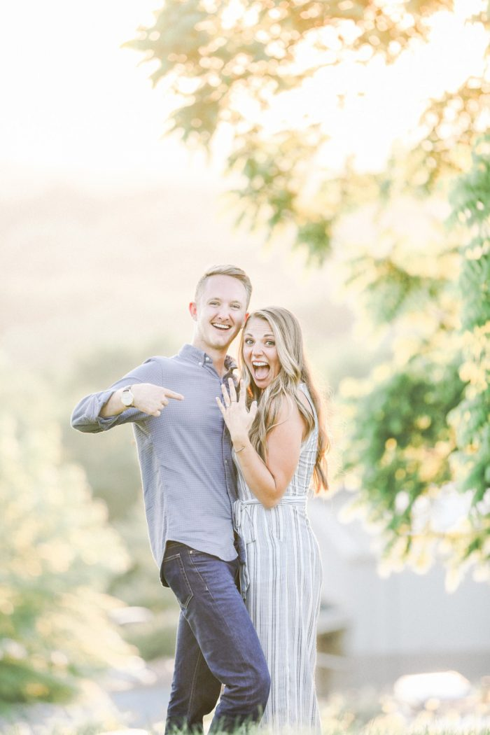 Bailee and Reid's Engagement in Arrington Vineyards- Nashville, TN