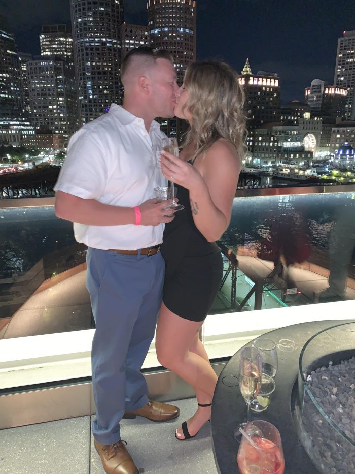 Where to Propose in Boston Ma The Lookout Rooftop deck