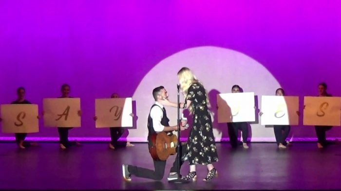 Marriage Proposal Ideas in On stage at my dance studios spring dance recital