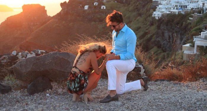 Megan's Proposal in Santorini, Greece