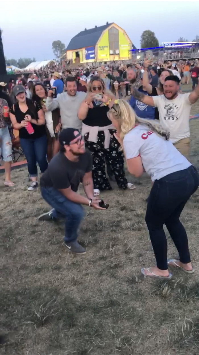 Michaela's Proposal in Boots and Hearts Music Festival, Ontario