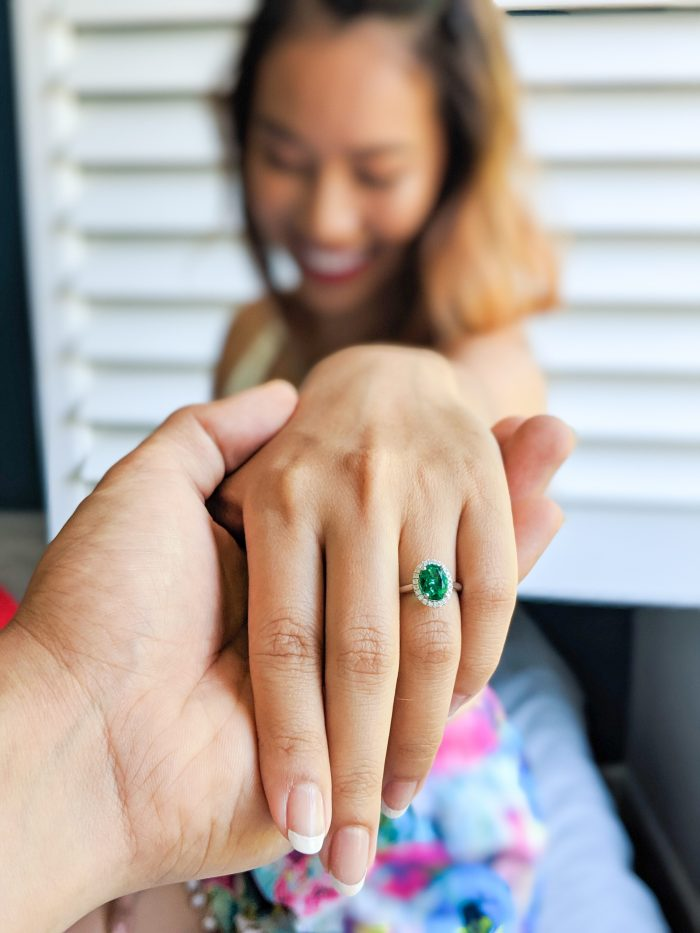 Linh and Thomas's Engagement in In our first condo in Los Angeles