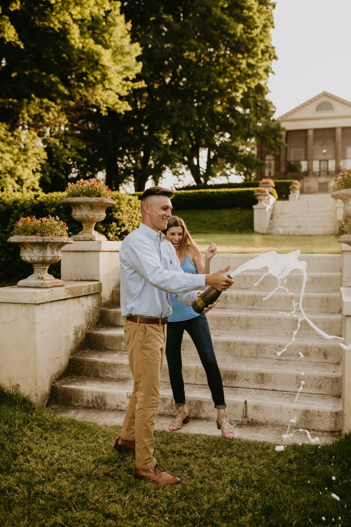 Jennifer and Justin's Engagement in At our families home