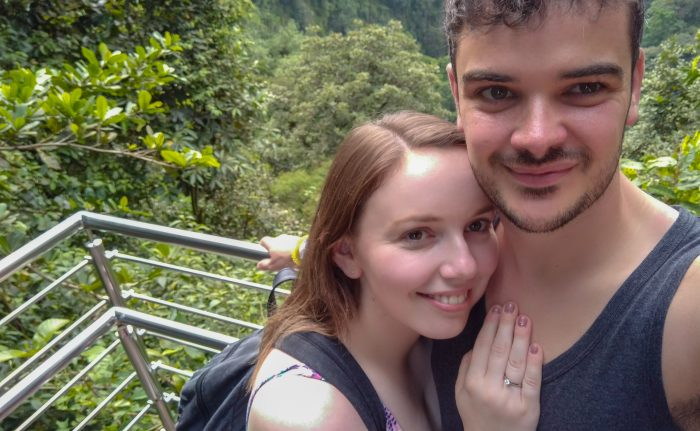 Chloe and Tom's Engagement in La Fortuna, Costa Rica