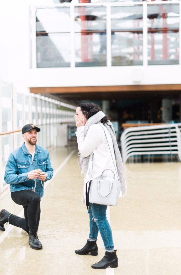 Alexa's Proposal in On board the Norwegian Escape in NYC
