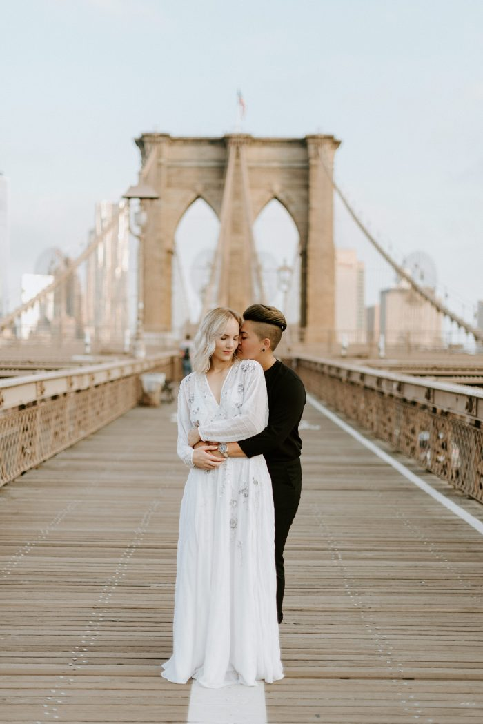 Marriage Proposal Ideas in Two proposals! Claudia's proposal was at Lavender by the Bay in Long Island and Taylor's proposal was at Domino Park in Brooklyn.