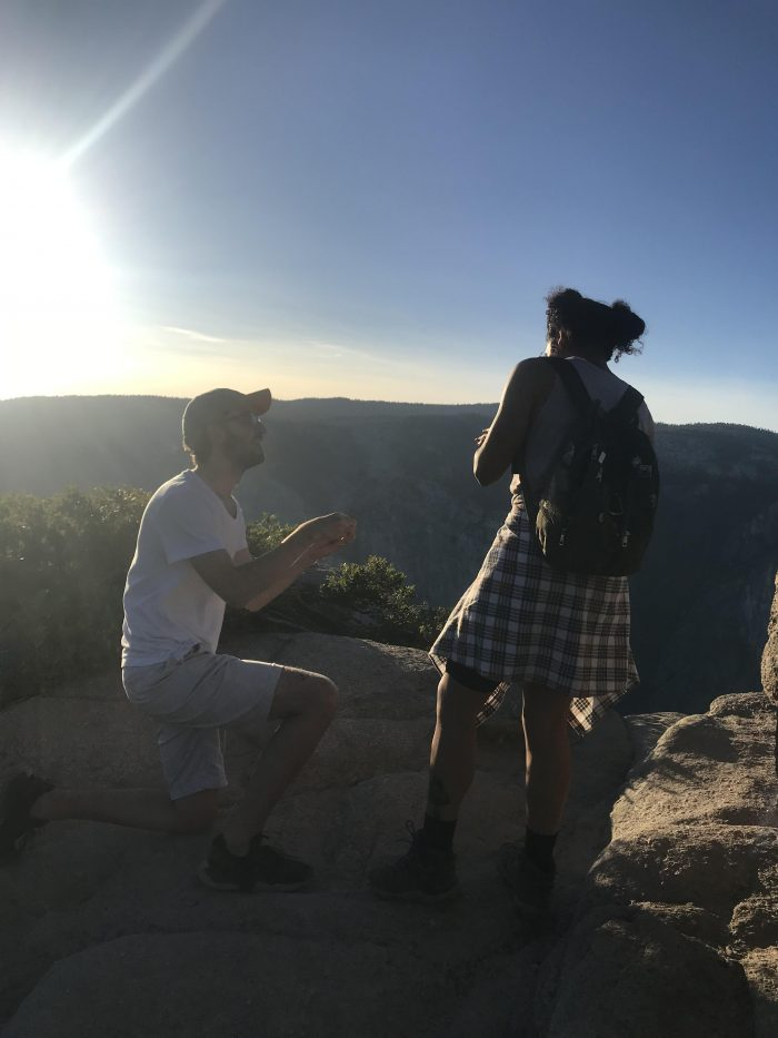 Bertha's Proposal in Taft Point, Yosemite National Park