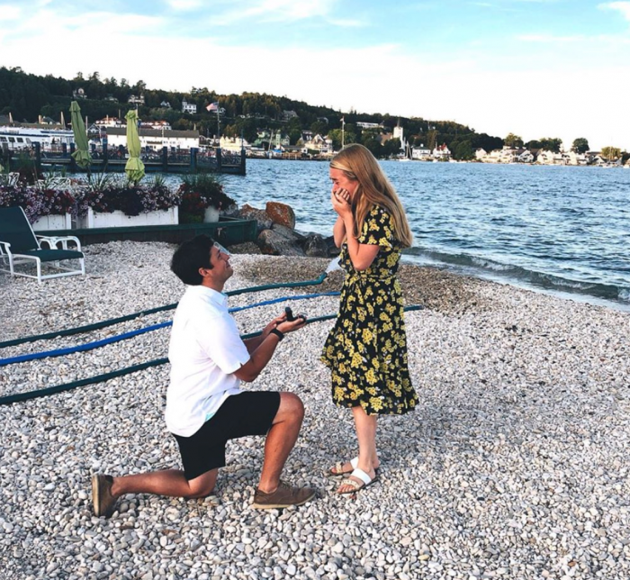 Maggie and Richard's Engagement in Mackinac Island, Michigan