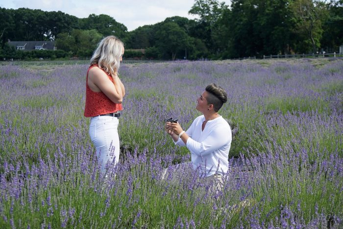 Wedding Proposal Ideas in Two proposals! Claudia's proposal was at Lavender by the Bay in Long Island and Taylor's proposal was at Domino Park in Brooklyn.