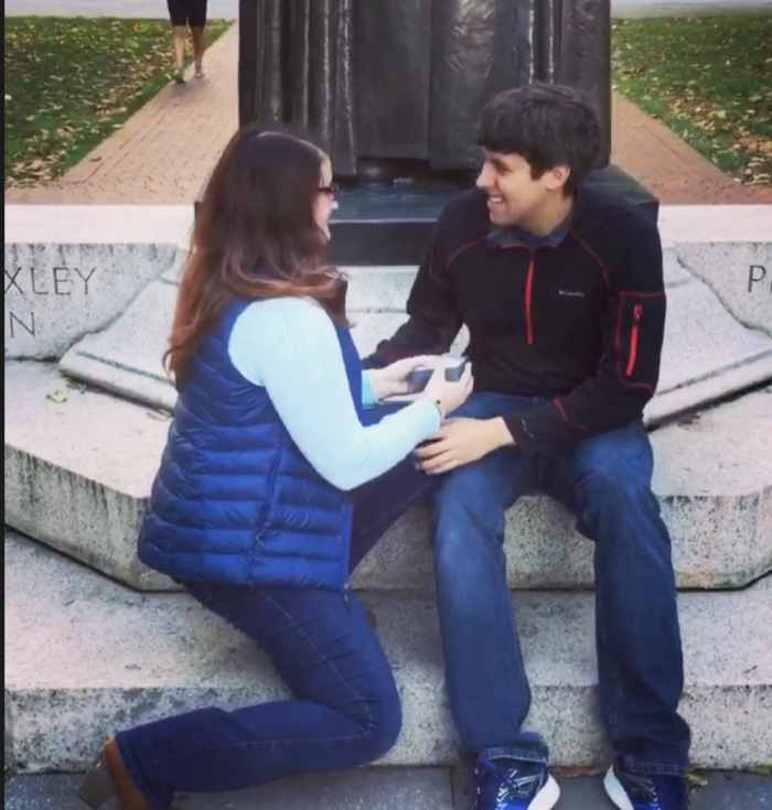 Allison's Proposal in The Ohio State University/Holiday Party