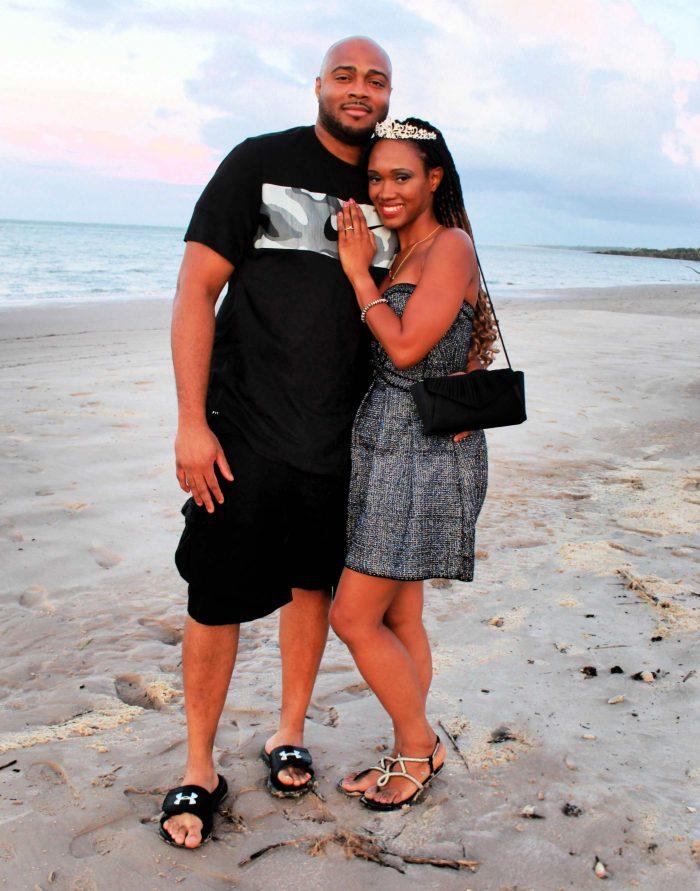 Alison's Proposal in Big Talbot Island Boneyard Beach, Florida, USA
