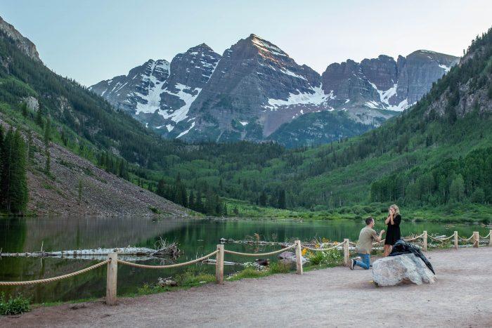 Engagement Proposal Ideas in Hanging Lake, Colorado