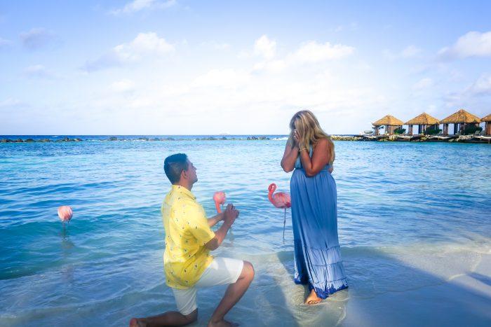 Engagement Proposal Ideas in Flamingo Beach, Renaissance Island, Aruba
