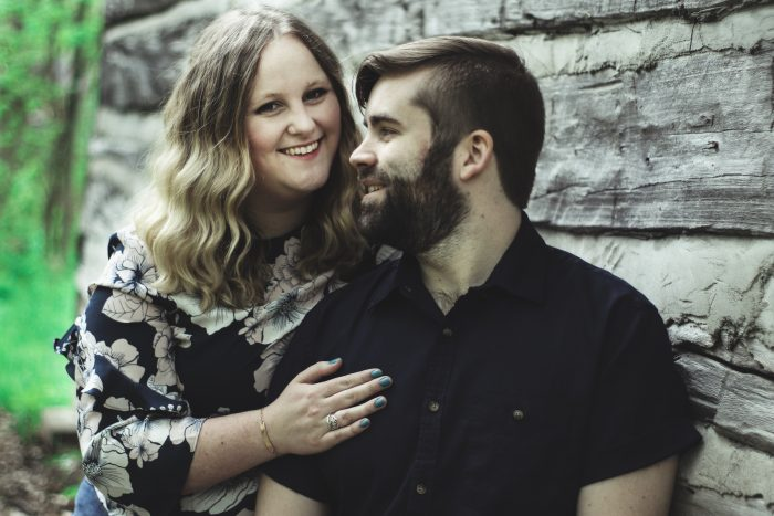 Hanna and Samuel's Engagement in Sheppard's Bush Forest