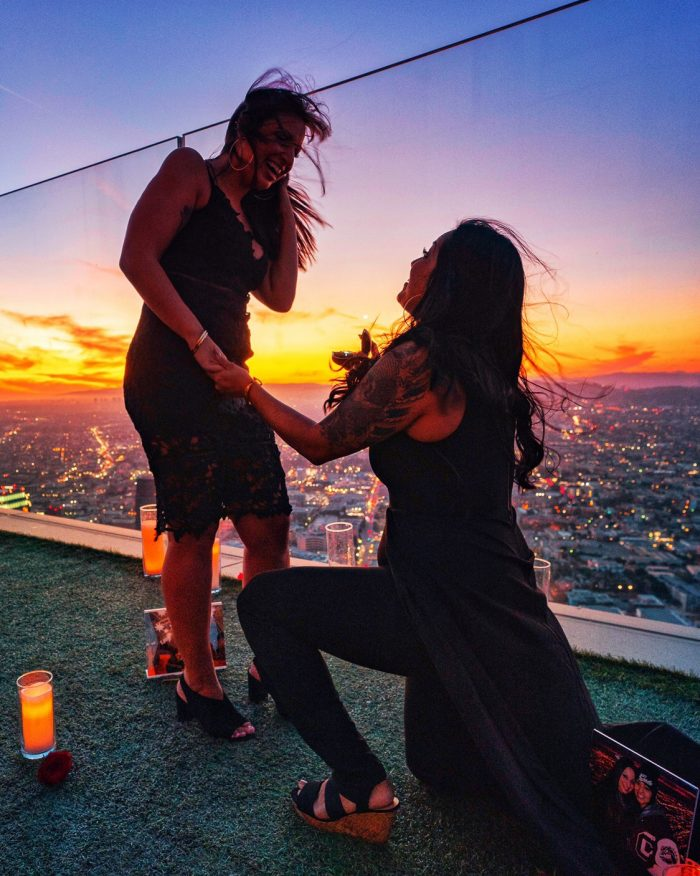 Where to Propose in Sky space LA, Los Angeles Ca