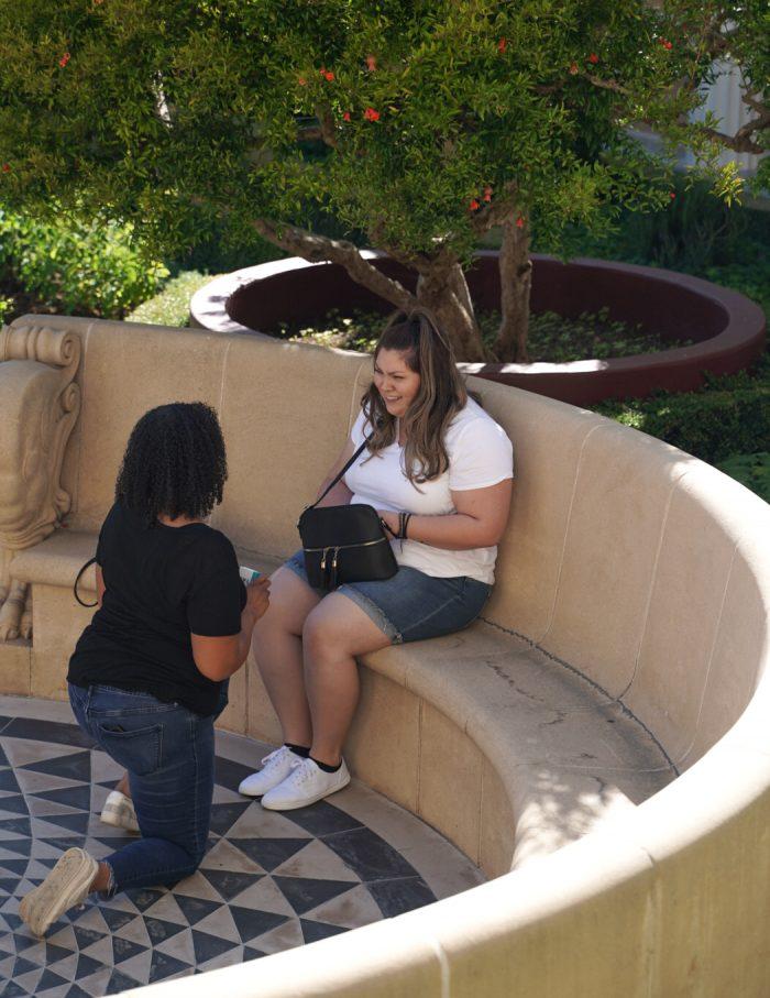 Marriage Proposal Ideas in Getty villa