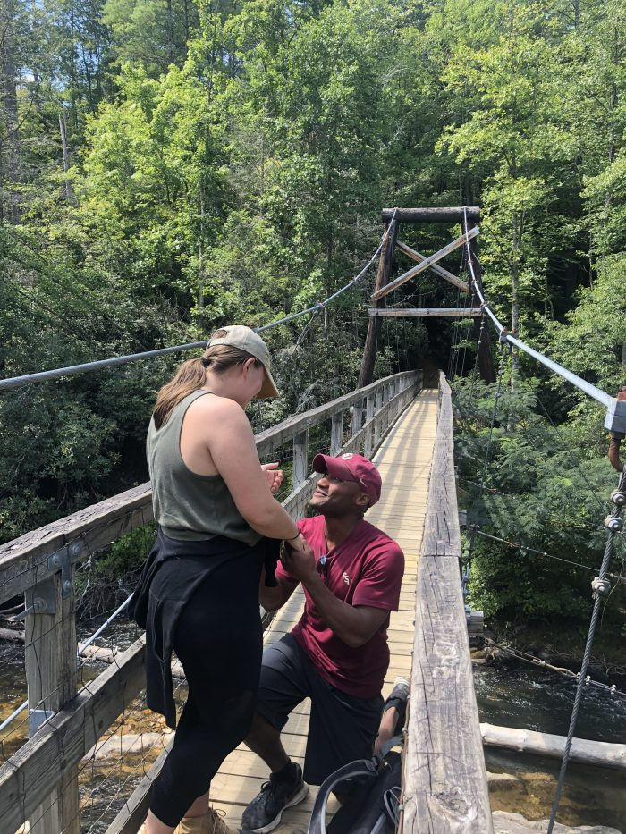 Marriage Proposal Ideas in Blue Ridge mountains
