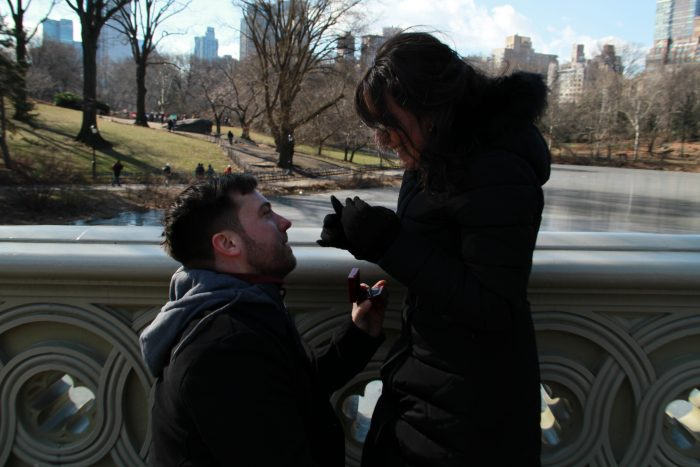 Tatiana and Adam 's Engagement in Central Park
