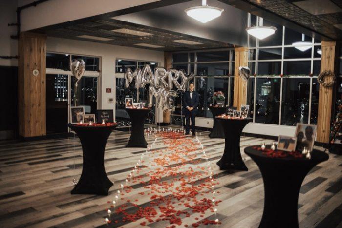 Wedding Proposal Ideas in CW MOORE Penthouse Boise ID