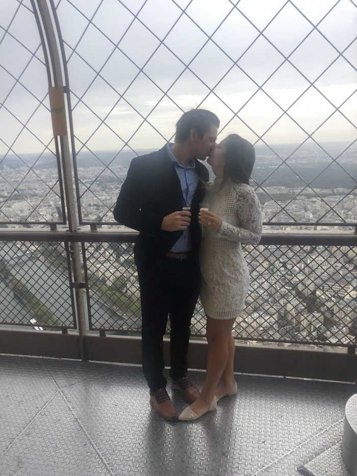 Wedding Proposal Ideas in On top of the Eiffel Tower in Paris