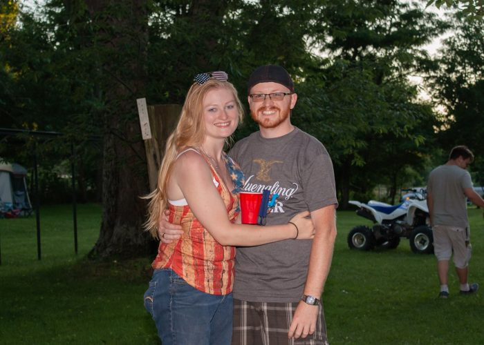 Marriage Proposal Ideas in Brides family horse farm on a Fourth of July/graduation party