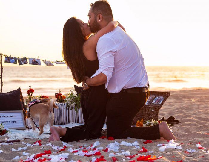 Marriage Proposal Ideas in Huntington Dog Beach