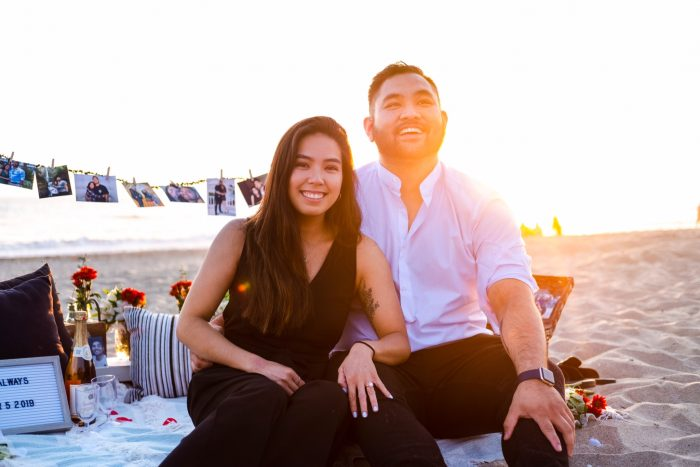 Alexis's Proposal in Huntington Dog Beach