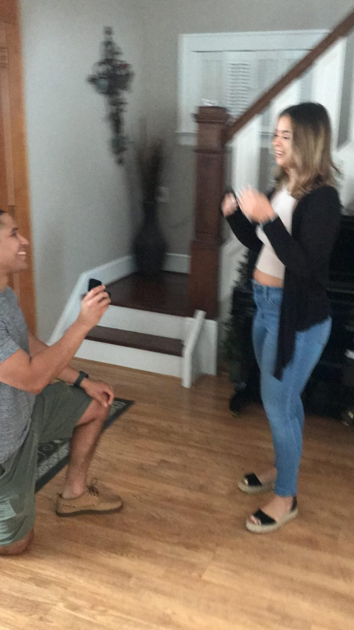 Engagement Proposal Ideas in At my parents house
