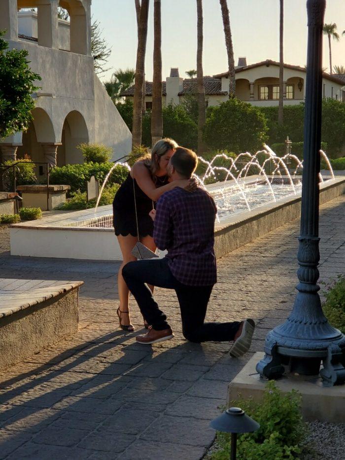 Tara's Proposal in Omni Scottsdale Resort