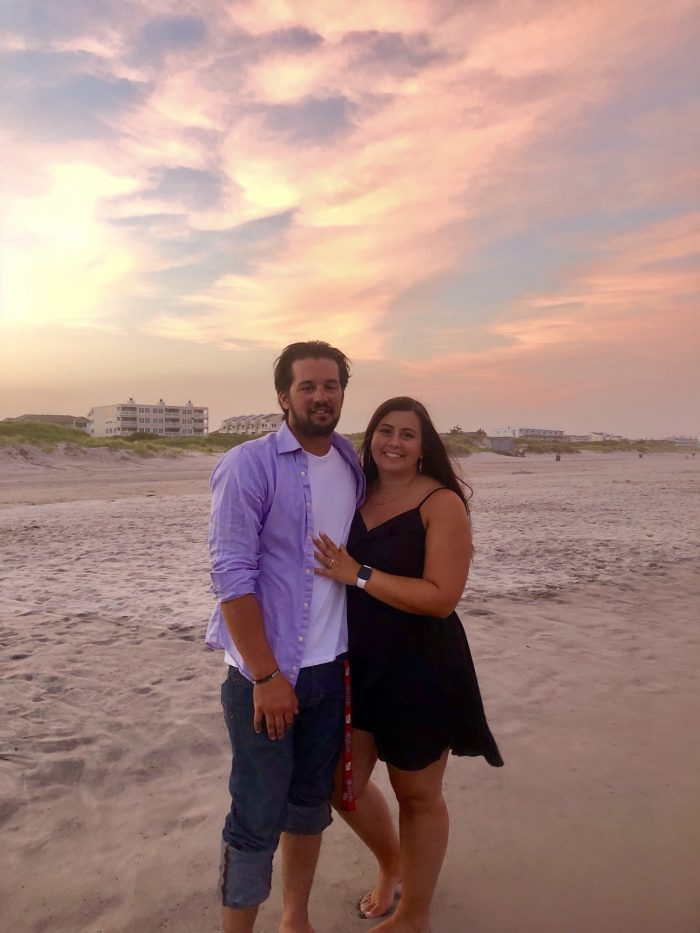 Alexsandra and Ian's Engagement in Brigantine, NJ on the beach
