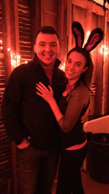 Erin's Proposal in At a friends Halloween party (after the weather ruined his intial plan?