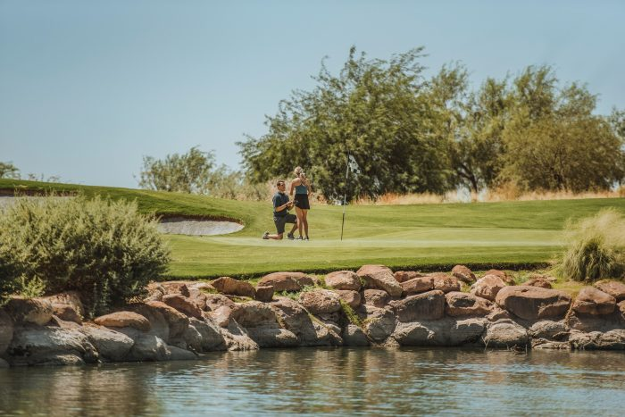 Michaela and Nick's Engagement in Chandler, Arizona - Wild Horse Pass Golf Course