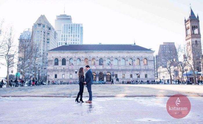 Brittney and Hayden's Engagement in Boston, Massachusetts