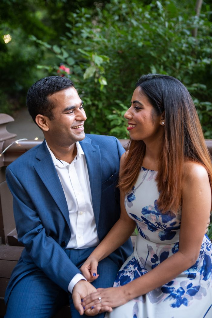 Pragati and Shobhit's Engagement in Central Park, New York