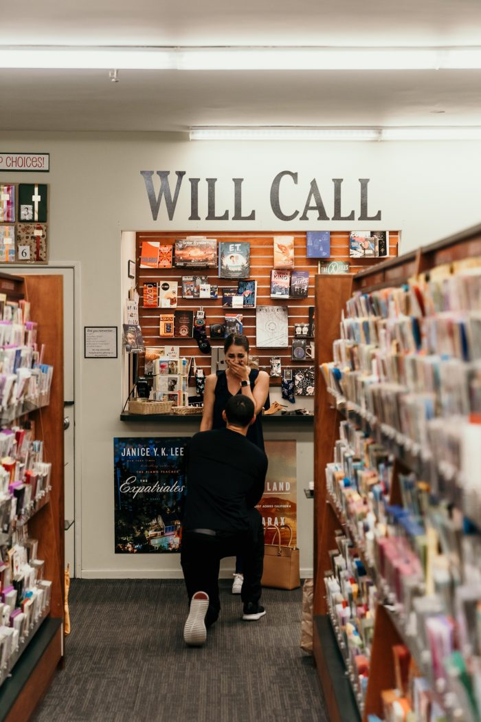Wedding Proposal Ideas in Vroman's Bookstore - Pasadena, CA