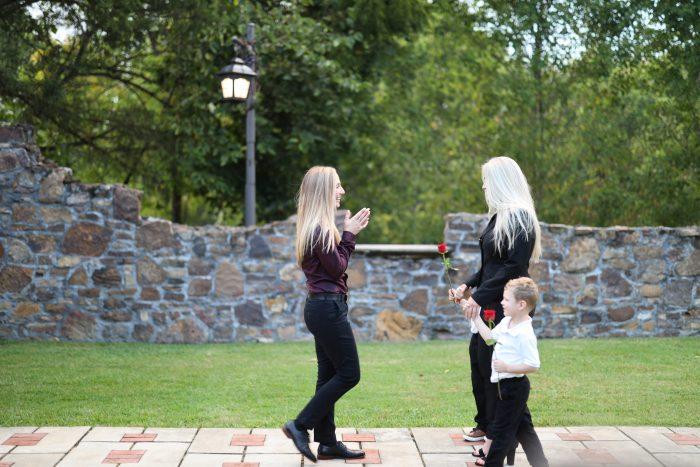 Erin and Mika's Engagement in Sassafras Spring Vineyards