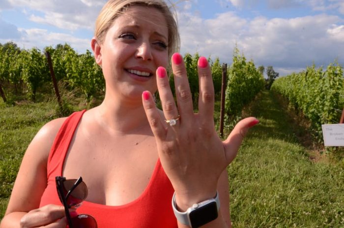 Marriage Proposal Ideas in Black Ankle Vinery