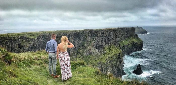 Jasmine's Proposal in Cliffs of Mother in Ireland