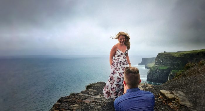 Marriage Proposal Ideas in Cliffs of Mother in Ireland
