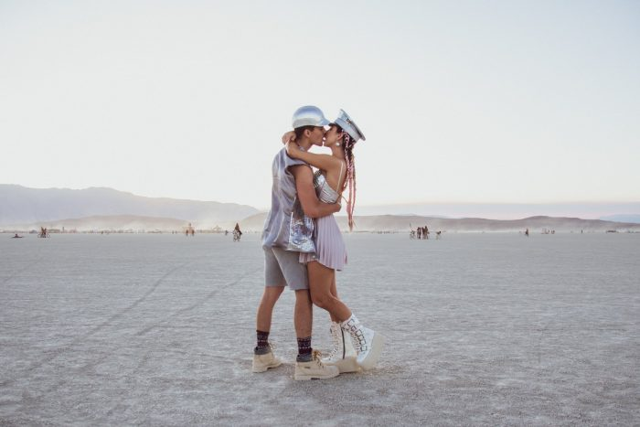 Travis and Jessica's Engagement in Burning Man